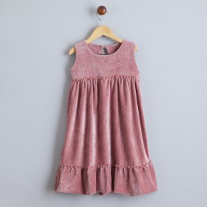 Vestido de veludo Rosé