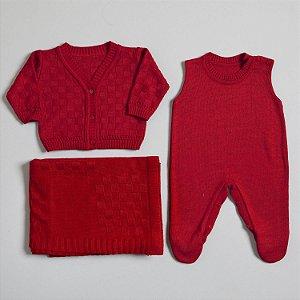 Saída de Maternidade tijolinhos vermelho