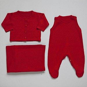 Saida de maternidade Laçinho vermelho