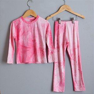 Conjunto Tie dye rosa