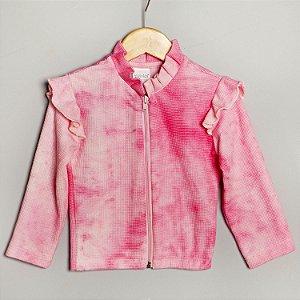 Jaqueta Favo tiedye rosa