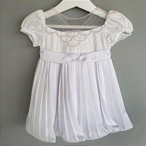 Vestido batizado bordado