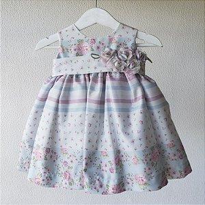 Vestido Bebe rosa e azul