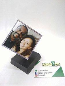 Porta Retrato Cubo Giratório - Presente Criativo - 6 Fotos