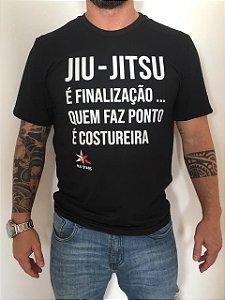 Camiseta BJJ Stars Finalização Preto