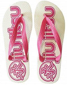 Chinelo Havai Branco/Rosa