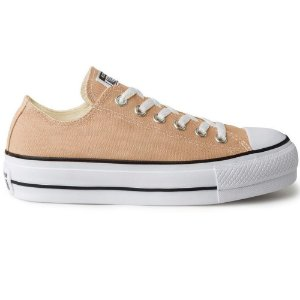 TENIS FEMININO ALL STAR CT09630004 CREME/PRETO/BRANCO