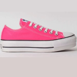 TENIS FEMININO ALL STAR CT09630013 PINK FLUOR/PRETO/BRANCO