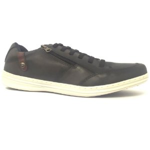 SAPATENIS MASCULINO PED SHOES 14001-A PRETO/BORDO