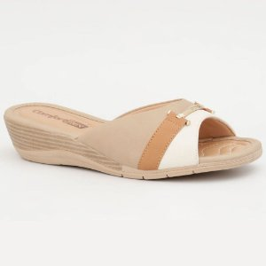 TAMANCO FEMININO COMFORTFLEX 1896406 PLUS OFF WHITE