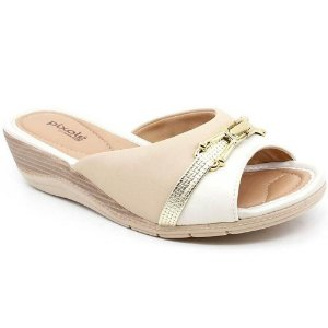CHINELO FEMININO COMFORTFLEX 1996401 PLUS/OFF WHITE