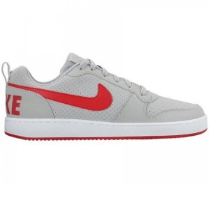 TENIS MASCULINO NIKE 838937 COURT BOROUGH LOW  CINZA/CINZA E