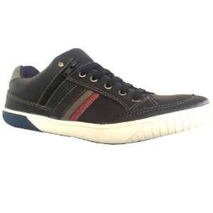 SAPATENIS MASCULINO WEST SHOES 7130/63000 PRETO/CINZA/VERM