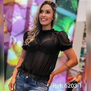 BLUSA FEMININO ESLEE 6203-1 PRETO