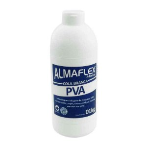 COLA PVA BRANCA 01 KG - ALMAFLEX