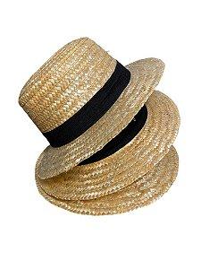 Chapéu Palheta Palha Dourada - Aba 5 cm