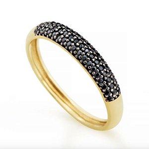 anel de ouro 18k meia aliança