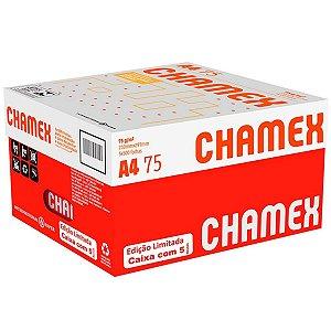 Papel sulfite A4 75g - 210x297 - Caixa com 5 pacotes com 2500 folhas - Chamex
