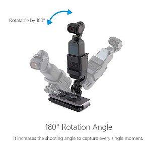 """Suporte em """"L"""" Pgytech plus para Action Camera"""