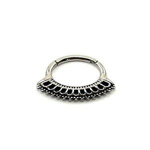 Piercing - Aço Cirúrgico - Daith - Septo - Clicker  - Espessura 1.2 mm
