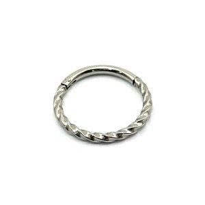 Piercing - Aço Cirúrgico - Argola - Segmentada - Clicker  - Espessura 1.2 mm