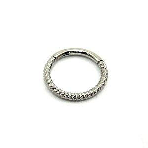 Piercing - Aço Cirúrgico - Argola - Segmentada - Clicker  - Corda - Espessura 1.2 mm