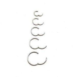 Piercing/Aço/Argola/Segmentada/Clicker/ 1mm