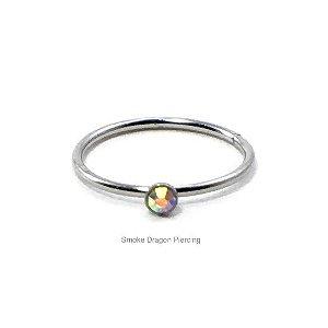 Piercing - Argola Nariz - Aço Cirúrgico -Pedra de Strass Furtacor
