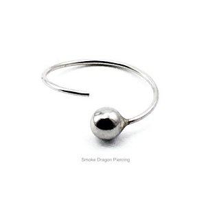 Piercing - Argola Nariz - Aço Cirúrgico -Bolinha de Aço - Nariz