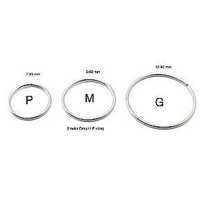 Piercing - Argola Nariz- Aço Cirúrgico - Espessura 0.6 mm