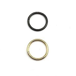 Piercing - Argola - Segmentada -  Articulada - Clicker - Aço Cirúrgico - Anodizado - Espessura 1.2 mm
