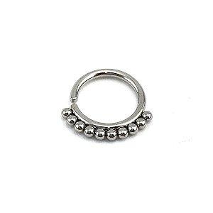 Piercing - Argola - Segmentada -  Articulada - Septo - Aço Cirúrgico - Espessura 1.2 mm