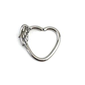 Piercing - Coração - Asa - Daith - Aço Cirúrgico - Espessura 1.2 mm