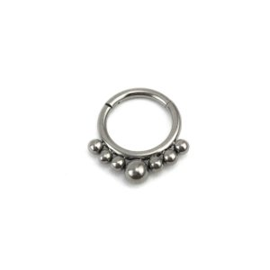 Piercing - Argola - Indiana - Segmentada -  Articulada - Clicker - Septo - Titânio - Espessura 1.2 mm