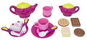 Kit/Conjunto Chá C/ Acessórios - Bolo/Biscoito - BBR TOYS