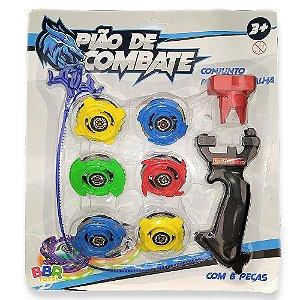 Conjunto Pião de Batalha c/ 6 Peças - Bbr Toys R2980