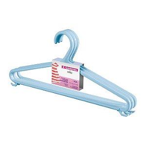 Cabide Infantil Plástico Azul Bebê C/3 - Sanremo