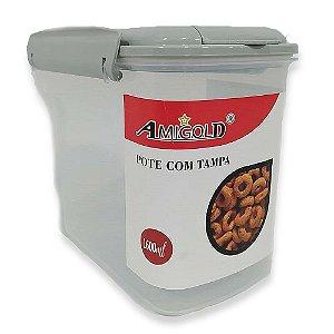 Pote com Tampa Azul 1600ml - Amigold