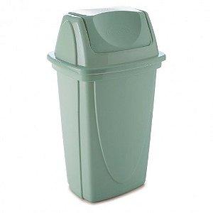 Lixeira de Plástico 7,2 L com Tampa Basculante Verde Plasútil