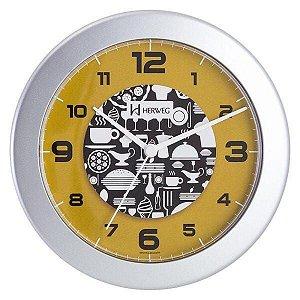 Relógio De Parede 21Cm Cozinha Talheres Herweg