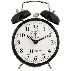 Despertador Herweg 2208 Preto Antigo Retrô Relógio