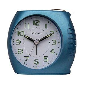 Relógio Despertador Quartz 2586-069 Azul Metálico - Herweg