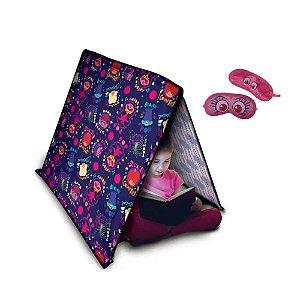 Tenda colorida e divertida com dois tapa olhos trolls world tour - Pupee