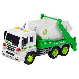 Veiculo Reciclagem Branco - Bbr Toys