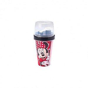 Mini Shakeira de Plástico 320 ml com Misturador Minnie