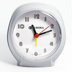 Relógio Despertador Quartz Cinza Tradicional Eurora