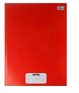 Caderno Brochura Univ. Capa Dura 96 Fls D+ Vermelho Tilibra