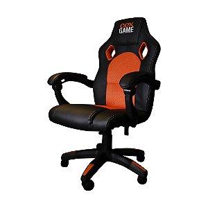 Cadeira Gamer GC100 Preta/Laranja Oex