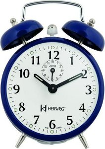 Despertador Herweg 2208 Azul Escuro Antigo Retrô Relógio