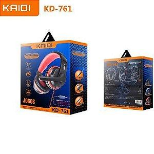 Fone De Ouvido Headset Gamer Kaidi Celular Pc Kd-761